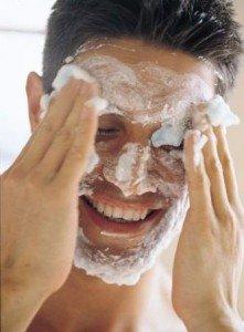 Esfoliação em pele masulina