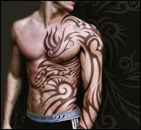Tatuagens masculinas barriga