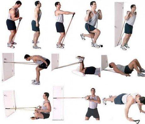 Trabalhando com acessórios para musculação em casa