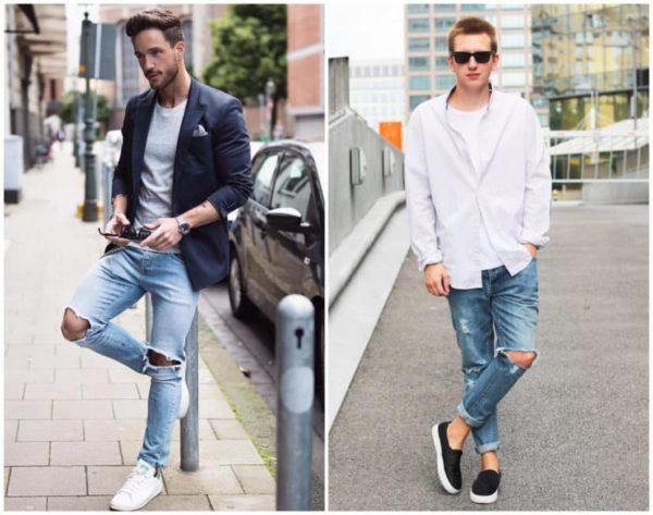 Usando jeans rasgado bb82c4b9897